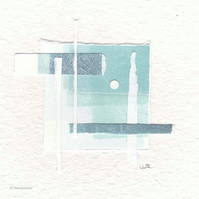 Original coastal inspired abstract minimalist collage no.20