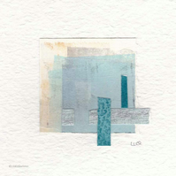 Original coastal inspired abstract minimalist collage no.27