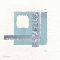 No.7 original minimalist abstract coastal inspired collage