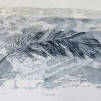 Feather I an original drypoint etching with no.4 in a limited edition of 10