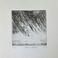 Heavy weather original drypoint storm print no.7 in a limited edition of 10