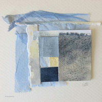 Original paper collage abstract inspired by sea and shore