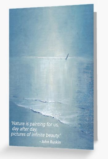 Inspirational quote card ruskin artist blank card