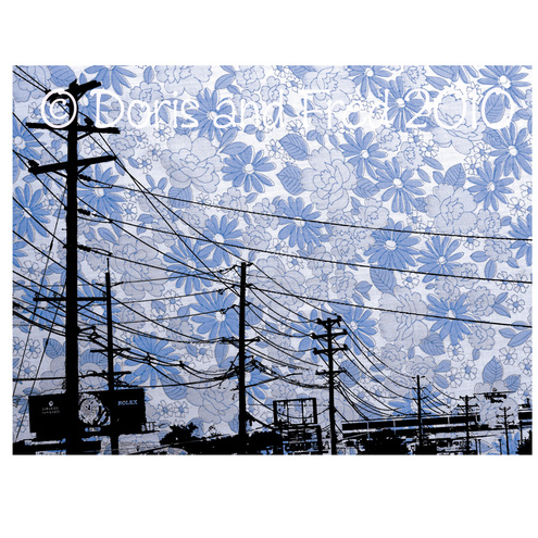 Blue Floral New Jersey Powerlines Illustration