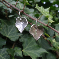 Sterling silver ivy earrings, sterling silver earrings gardener gift