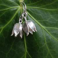 Sterling silver flower earrings, lovely mothers day gift for her