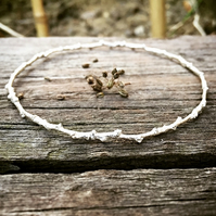 Sterling silver bangle - sterling silver twig bangle