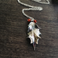 Sterling silver holly leaf necklace