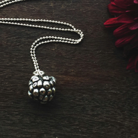 Sterling silver blackberry necklace, Christmas gift