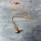 Rose gold plated bird necklace - vermeil bird necklace