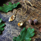 Gold acorn necklace - vermeil Autumn acorn necklace