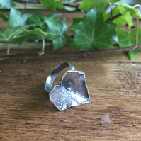 Sterling silver ivy leaf ring - a beautiful Christmas gift for her