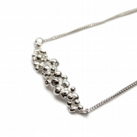Spindrift silver necklace