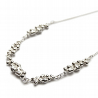 Spindrift silver link necklace