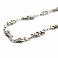 Spindrift silver full linked necklace