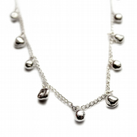 Spindrift silver Droplet necklace