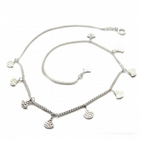 Athena silver charm necklace