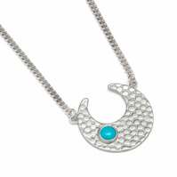 Athena silver and turquoise neackle