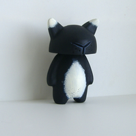 Frank -  Feline Resin Figure -  Cat hand sculpted and cast. SALE!
