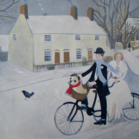 A Bicycle Made For Two Giclee Print