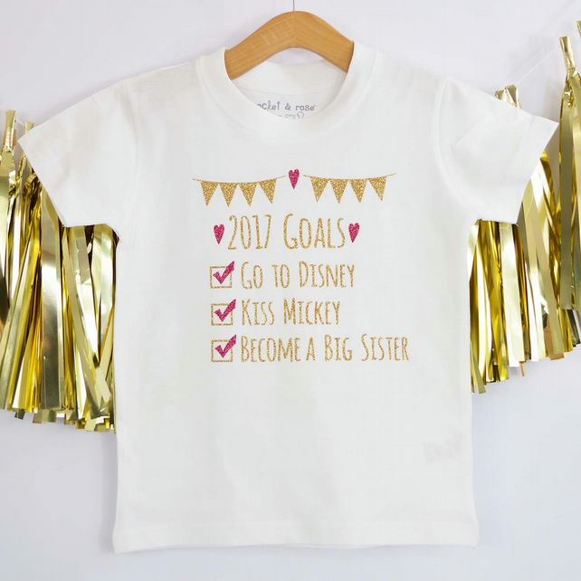 Big Sister Goals Personalised Kids T-Shirt