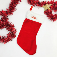 Personalised Traditional Christmas Stocking