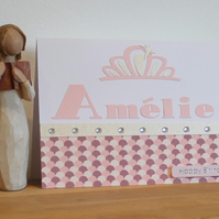 Personalised Birthday Card - Princess Crown