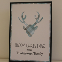 Personalised Stag Deer Christmas Cards