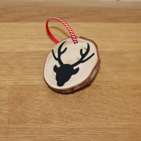 Rustic Stag Deer Christmas Tree Decoration - Set of 4