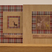 Luxury Christmas Cards - Set of 4 Woodland Stags