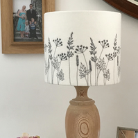 Hedgerow Embroidered lampshade