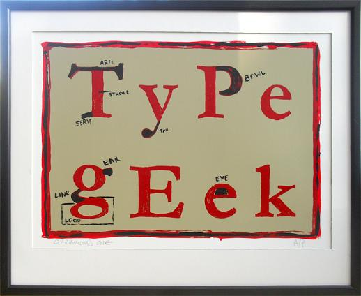 Typography Print by Empire Silkscreen on Folksy