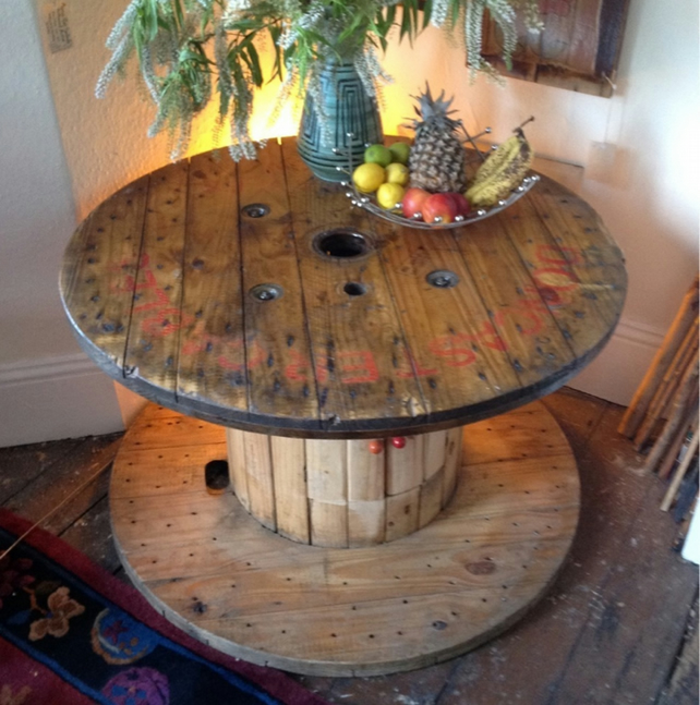 Recycled Cable Drum Coffee Table 1m Diameter X Folksy