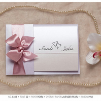 Luxury Wedding Invitations, Satin Ribbon, Bow