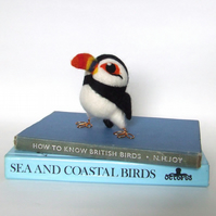 Needle Felted Puffin Bempton the Puffin