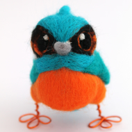 Mini Needle Felted Kingfisher British Kingfisher