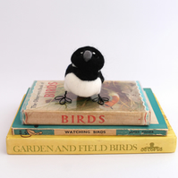 Mini Magpie Needle Felted Bird Ornament