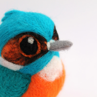 Needle Felted Kingfisher British Kingfisher