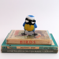 Mini Blue Tit Needle Felted Blue Tit