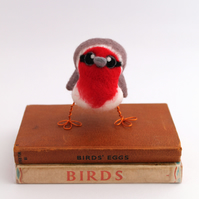 Needle Felted Robin Bird Decoration - Large Robin