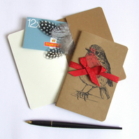 Robin Notebook, Gocco Printed Note Book