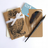 Snowy Owl Notebook Gocco Printed Pocket Moleskine Cahier Notebook