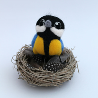 Needle Felted Bird Great Tit