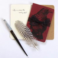 Red Raven Moleskine Notebook
