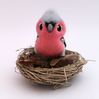 Needle Felted Chaffinch Bird Ornament