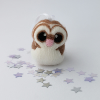 Barn Owl Christmas Decoration, Hanging Decoration