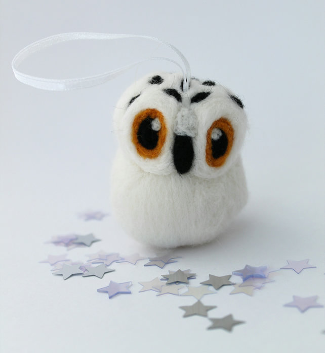 Snowy Owl Christmas Decoration, Hanging Decoration