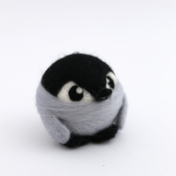 Needle Felted Baby Penguin Ornament