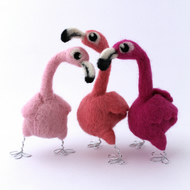 Needle Felted Flamingo Bird
