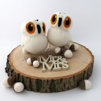 Snowy Owl Wedding Cake Topper
